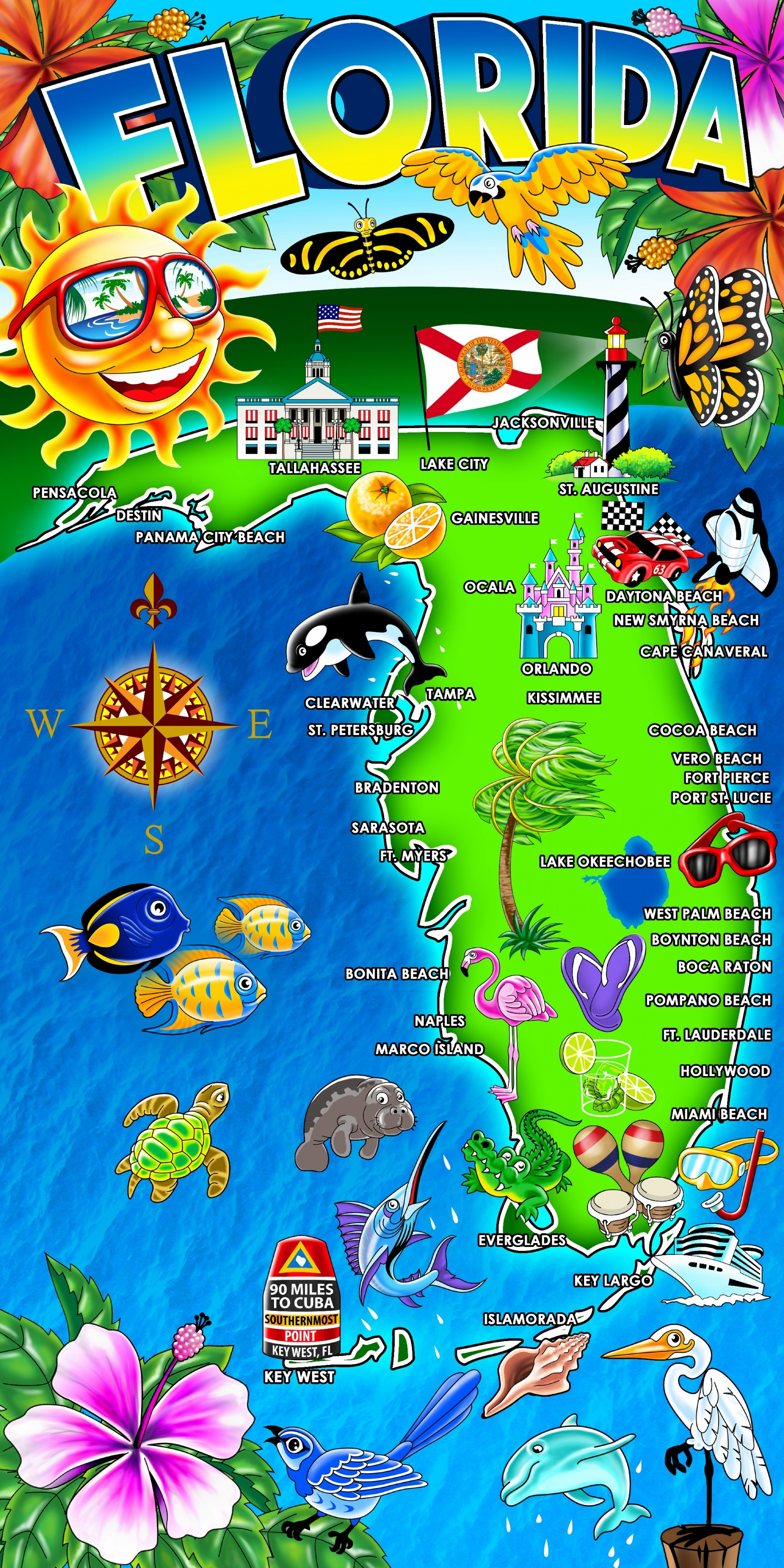 Island Gear Beach Towels Accessories Wholesale HOT Florida - Florida map ft myers