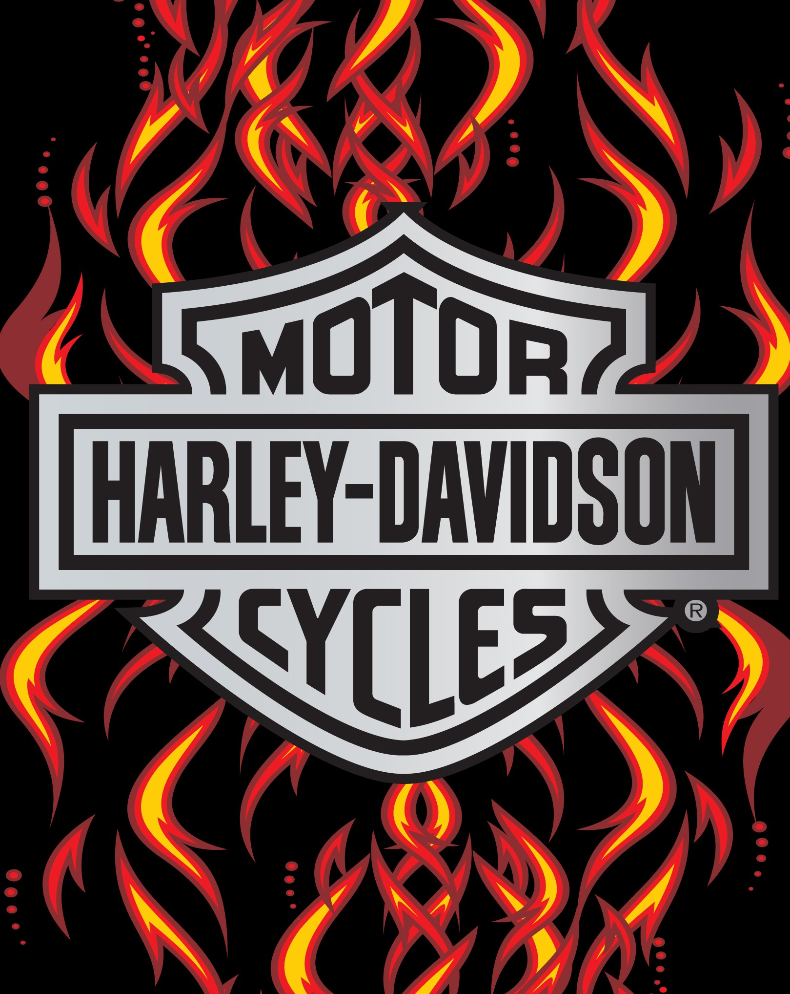 Harley Davidson Chrome Flame