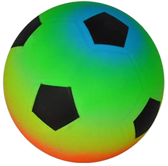 Neon Rainbow Soccer Ball