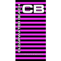 Clearwater Beach Neon Stripe Pink