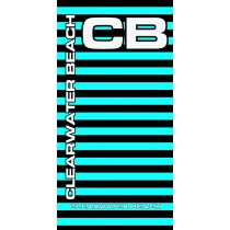 Clearwater Beach Neon Stripe Turquoise