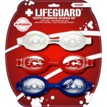 Youth Lifeguard Goggle 3 Pack