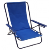 5 Position Steel Chair with Plastic Arms