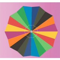 8' Poly Fabric Tilt Umbrella Anti UV
