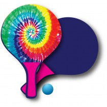 Tie Dye Paddle Ball Set