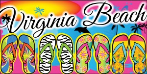 Virginia Beach Flip Flops Fun