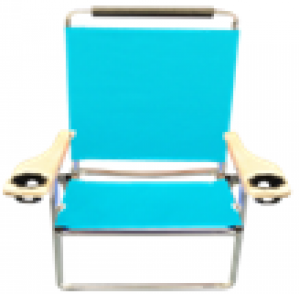 3 Position Deluxe Beach Chair cushioned headrest